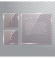 Set of transparent reflecting square glass banners vector image
