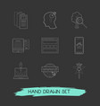 set of web design icons line style symbols with vector image vector image