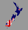 silhouette country borders map of new zealand