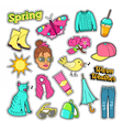 Spring Woman Fashion with Clothes and Accessories vector image vector image