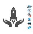 startup flat icon with free bonus elements vector image vector image