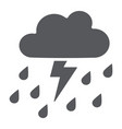 thunderstorm with rain glyph icon weather and vector image vector image