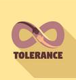tolerance logo flat style vector image
