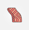 trout or salmon fish slice flat icon or vector image