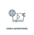 video advertising icon thin line style symbol vector image vector image