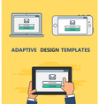 Web Template of Adaptive Email Form vector image vector image