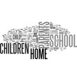 why home school your child text word cloud concept vector image vector image