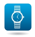 Wristwatch icon simple style vector image