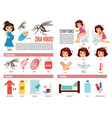 zika virus and dengue virus infographic vector image vector image