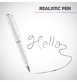 Detailed realistic pen vector image