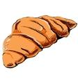 Fresh croissant icon vector image