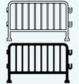 Steel barricades vector image
