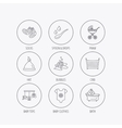 Baby clothes bath and hat icons Pram carriage vector image vector image