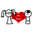 Be Mine cartoon vector image vector image