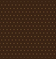 beige polka dots on brown background vector image
