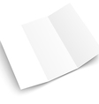 Blank white booklet template mockup Template for vector image