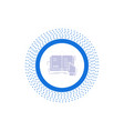 book lesson study literature reading glyph icon vector image