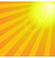 Bright yellow sun with rays abstract travel vector image vector image
