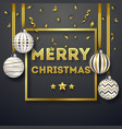 christmas background with shining gold ribbons and vector image vector image