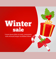 christmas sale poster banner vector image