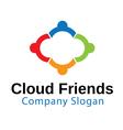Cloud Friends Design vector image vector image
