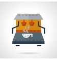 Coffee making machine flat color icon vector image vector image
