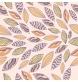 Colored seamless pattern with leaves vector image
