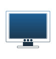 computer screen technology blue lines vector image vector image