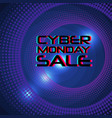 cyber monday sale banner modern typography vector image