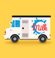 dairy milk delivery service local delivery vector image vector image