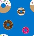 Doughnuts seamless pattern vector image