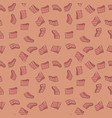 fillet pieces of salmon red fish seamless vector image