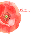 flower poppy love bird vector image vector image