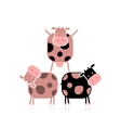 Funny cows for your design vector image vector image