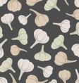 Garlic seamless pattern background garlic vector image vector image
