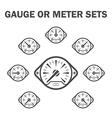 Gauge meter vector image vector image