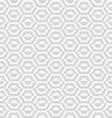 geometric gray hexagon vector image vector image