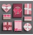 Girly boxes and bows vector image
