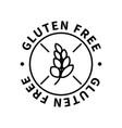 gluten free simple icon modern design element vector image
