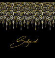 gold glitter light vector image vector image