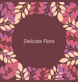 greeting card delicate flora vector image