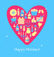 happy holidays banner template in flat style vector image vector image