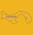 high resolution panama map with country flag flag vector image vector image