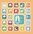 Icon set of weather sticker vector image