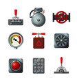 icons set with industrial design elements vector image