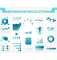 infographics collection blue business vector image vector image