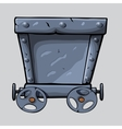 Iron mine cart vector image