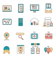 It Icons Line vector image
