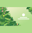 landing page design with tropical greens vector image