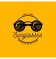 Logo with the image of round sunglasses vector image vector image